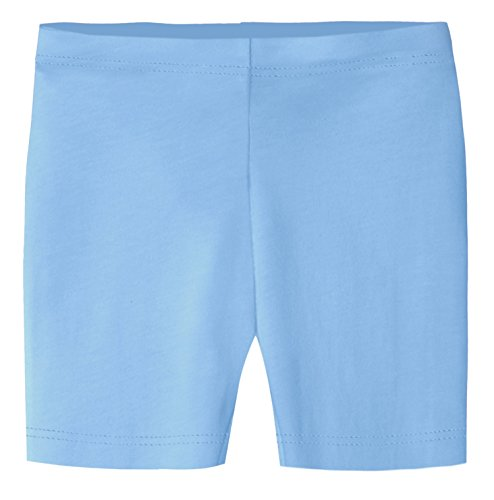 City Threads Big Girls Underwear Bike Shorts in All Cotton Perfect for SPD and Sensitive Skin Sports Dance School Uniform, Bright Light Blue 14