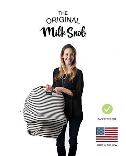 Multi Functional Nursing Wrap - AS SEEN ON Shark Tank The Original Milk Snob Infant Car Seat Cover and Nursing Cover Multi-Use 360° Coverage Breathable Stretchy