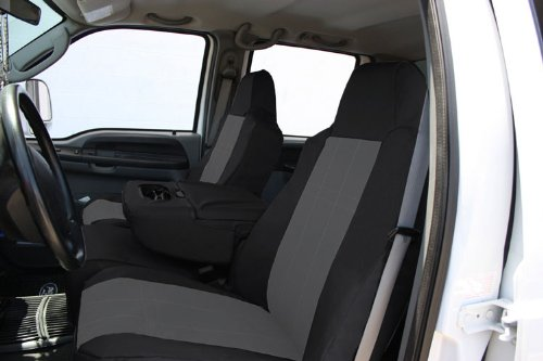 Beige CalTrend Front Row Bucket Custom Fit Seat Cover for Select Chevrolet Silverado//GMC Sierra Models DuraPlus