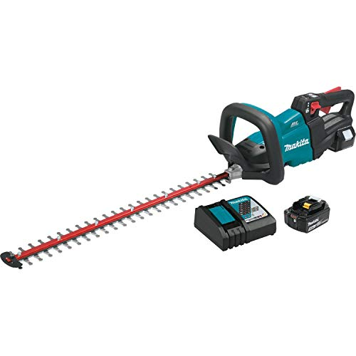 Makita XHU07T 18V LXT Lithium-Ion Cordless (5.0Ah) Brushless 24″ Hedge Trimmer Kit, Inch, Teal