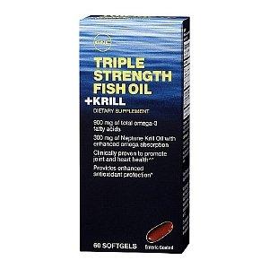 GNC Triple Force huile de poisson plus Krill 60 des gels mous