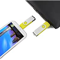 STONG OTG USB Flash Drive Dual Transforms Memory for Cell Phones & Tablet PCs for Samsung, HTC, Nokia, Blackberry, and Most OTG Capable Android Phones and USB for All Major PC OS (64G, Yellow)