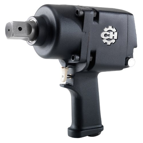 Air Impact Wrench - Heavy-Duty Twin Hammer 1-Inch Impact Driver w/ Hardened Steel Body and Pistol Grip (Campbell Hausfeld CL255900AV) ()