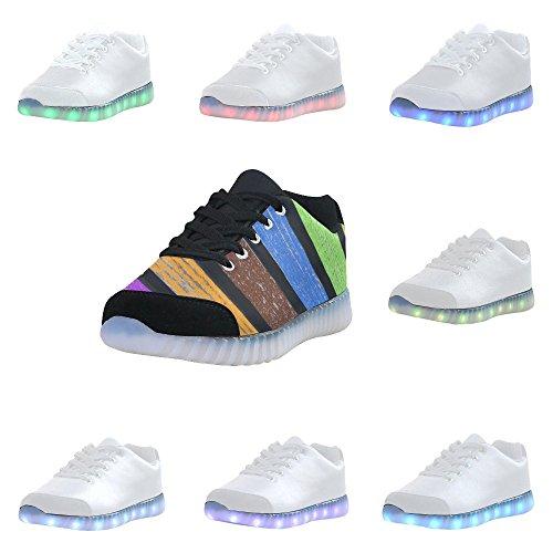 Larc-en-ciel Dimpressionprint Allument Des Chaussures Clignotantes Espadrilles Des Chaussures Plates Occasionnelles Pour Des Femmes