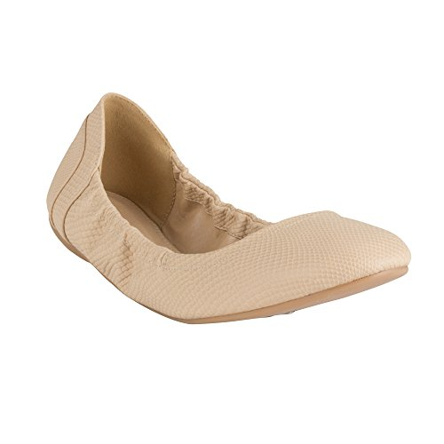 "Wanted ""Jive"" Elasticized Edging Fashion Flats - (Nude, 5.5)"