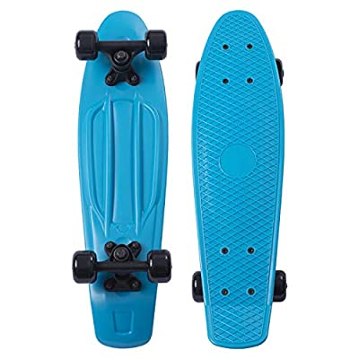 Movendless YD-0001 Quip Skateboard 22.5 Inches Classic Plastic Cruiser Skate Board, Blue : Sports & Outdoors