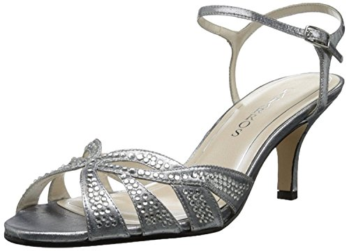 Caparros Women's Heirloom Dress Sandal,Silver,7 M US