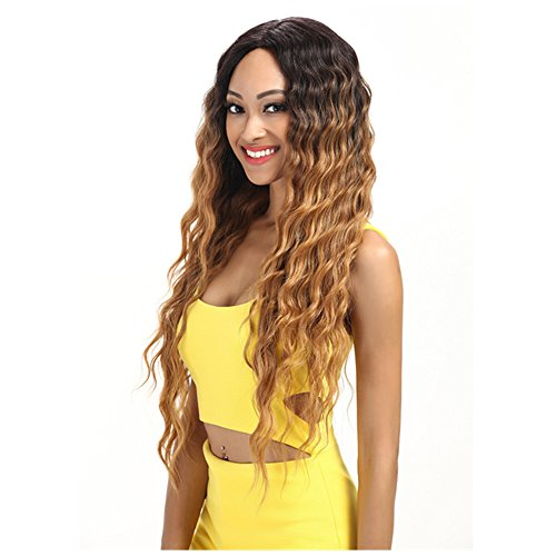Joedir Lace Front Wigs 30'' Long Wavy Synthetic Wigs For Black Women 130% Density Wigs