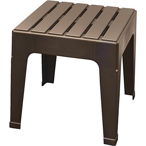 ADAMS MFG PATIO FURN 8090-60-3731 Big Easy Brown Stack Table by ADAMS MFG PATIO FURN