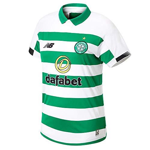 - New Balance Celtic FC 2019/20 Womens Home Football Shirt White/Green - 16