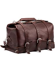 Saddleback Leather Waterbag - 100% Full Grain Leather Travel Duffel Bag - 100 Year Warranty
