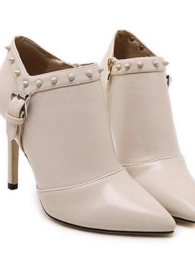 White Botas Eu36 Negro Uk3 Blanco Eu39 Xzz Cn35 Semicuero Cn40 Stiletto Puntiagudos Tacón 5 De Mujer 5 us5 Uk6 5 Zapatos Casual 5 White us8 BwqxwUY1
