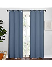 NICETOWN Blackout Curtains 42 Wide Pair for One Set