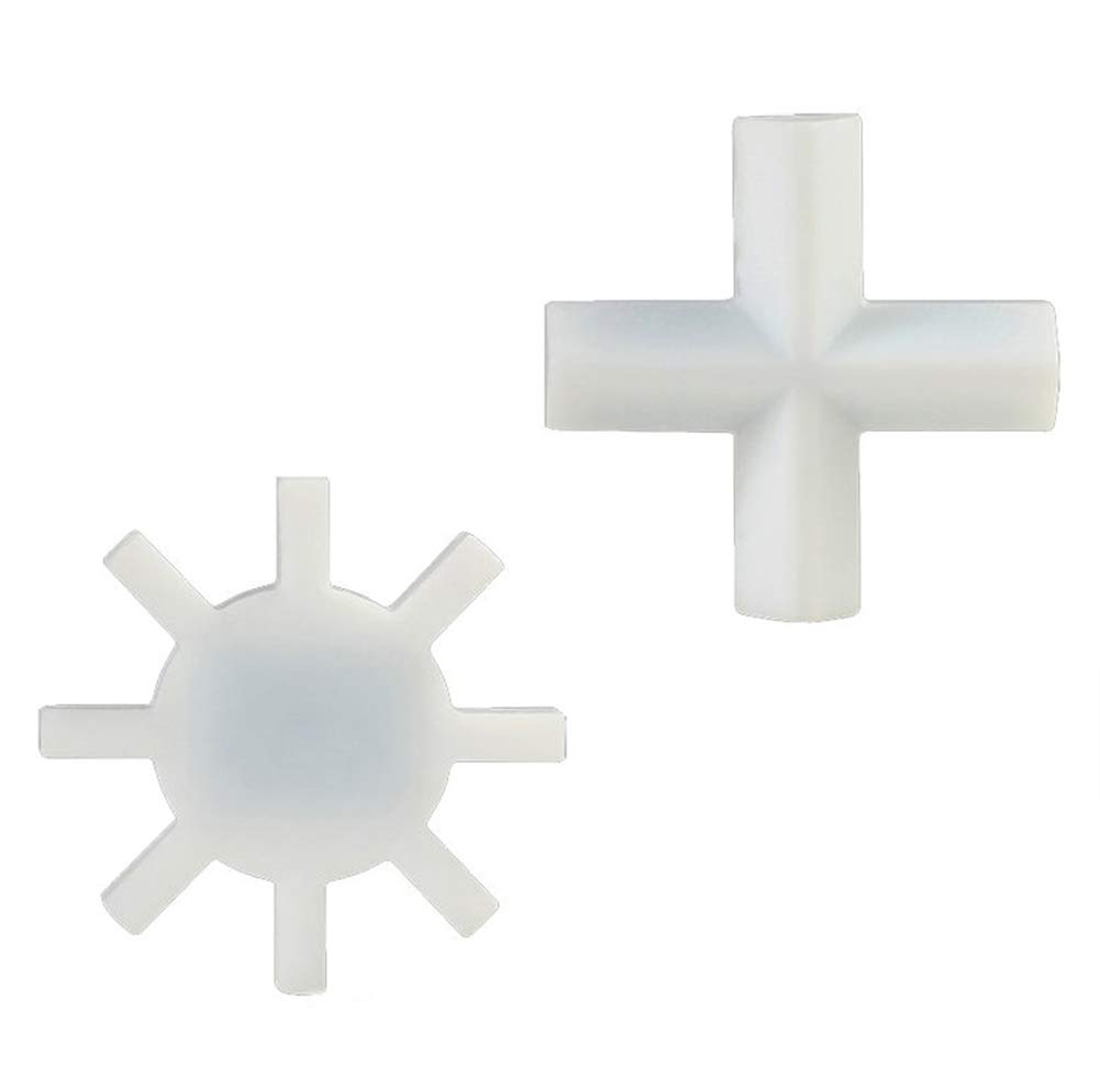2 Pcs Magnetic Stirrer Mixer Cross Type Stir Bar Spinbar Stirring Cross Magnetic Stirrer and Gear Type (2, Cross Type+Gear Type) by Burry Life Science
