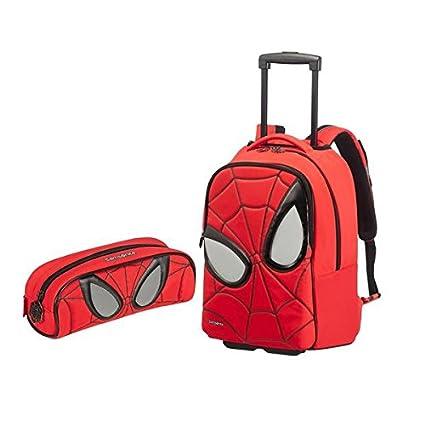 Samsonite Spiderman Iconic equipaje Set – Marvel Ultimate – Juego de mochila con ruedas y