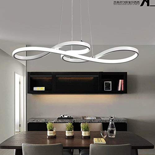 FidgetGear LED Chandelier Dining Room Ceiling Light Acrylic Restaurant Pendant Lamp Lights Cool Light L75 W32 H30cm by FidgetGear