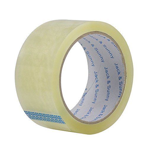 Jack&Sunny Heavy Duty Packing Tape Low Noise 1.88 Inch x 54.6 Yard(Pack of 6 Rolls) Industrial Packaging Tape Great for Packing Shipping Moving Depot&Storage Clear