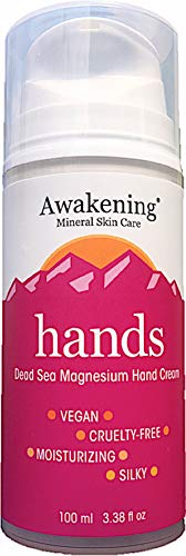 Awakening HANDS Magnesium-Rich Hydrating Hand Therapy Cream for Dry, Cracked Skin, ()