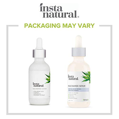 InstaNatural Niacinamide 5% Face Serum – Vitamin B3 Anti Aging Skin Moisturizer – Diminishes Acne, Breakouts, Wrinkles, Lines, Age Spots, Hyperpigmentation, Dark Spot Remover for Face – 2 oz