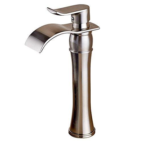 vessel sink waterfall faucet - 7