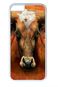 Texas Longhorn PC Case Cover for iphone 6 plus 5.5 inch White