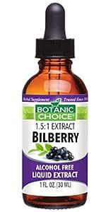 Botanic Choice Bilberry Alcohol Free Liquid Extract, 1 Fluid Ounce