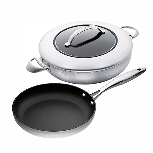 Scanpan CTX 3-Piece Cookware Set, 11-inch Fry Pan with 12-3/4-Inch Covered Chefs Pan