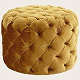 Cyan Lighting 06778 Miss Muffet - 24 Ottoman, Gold Finish