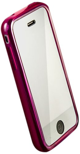 iSkin UNSOLO4G-PK Solo TPU Jelly Case for iPhone 4-1 Pack - Case - Retail Packaging - Pink ()