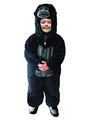 Toddler Boys Plush Gorilla Costume Halloween Jumpsuit 2T Black]()