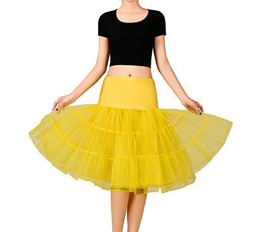 Noriviiq - Enaguas cortas - para mujer Amarillo amarillo Large