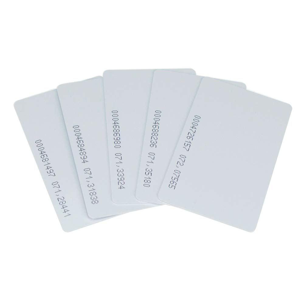 OBO HANDS 125khz Writable Rewritable White Plastic T5577 RFID Card Proximity Door Control Entry Access (10)