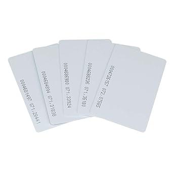 OBO HANDS 125khz Escribir Regrabable Plástico Blanco Tarjeta T5577 RFID Acceso de Entrada de Control de Puerta de Proximidad (10)