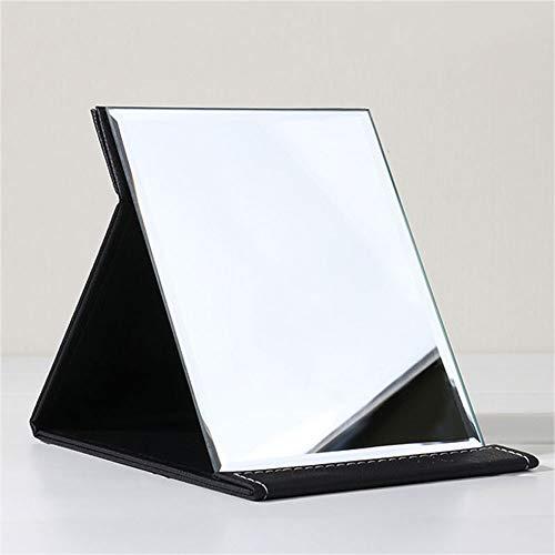 ZCF Espejo Plegable Grande Maquillaje Espejo de Escritorio Espejo portátil Engrosamiento de la Moda Simple HD Espejo Espejo...