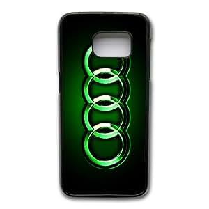 Generic hard plastic Audi Logo Cell Phone Case for Samsung Galaxy S7 Black ABC83