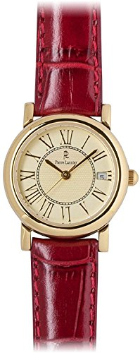 PIERRE LANNIER watch Soleil Watch Gold / Croco Bordeaux P871502 C56 Ladies