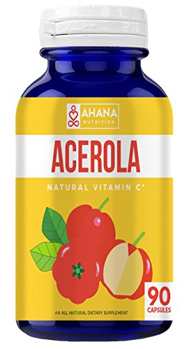 Acerola Capsules 900mg Per Serving - Rich in Vitamin C, Supports The Immune System & Aids Good Digestion