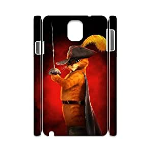 TOSOUL Custom painting Puss in Boots Phone 3D Case For Samsung Galaxy note 3 N9000 [Pattern-6]