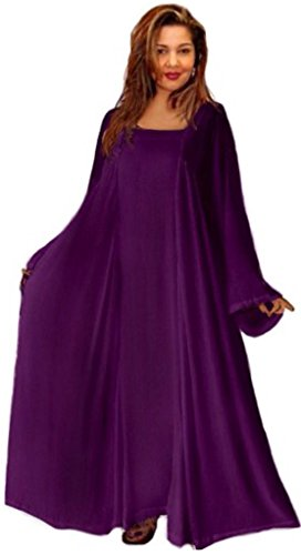 Lotustraders Dress Moroccan Ethnic Pocket Lagenlook Deep Purple 5X W322