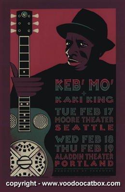 1998-keb-mo-silkscreen-concert-poster-by-gary-houston