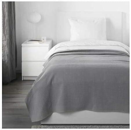 INDIRA IKEA Colcha en Gris; 100% algodón; (150 x 250 cm)