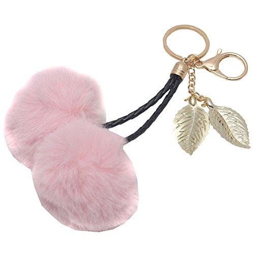 melie-bianco-girls-pink-faux-cherry-pom-pom-gold-leaf-keychain
