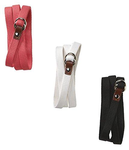 Aeropostale Womens 3 Pack Thin Skinny Belt, Pink, Large