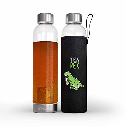 Cold Brew Coffee Maker Tea Infuser - 17 oz On-The-Go Size, Make Amazing Cold Brew Coffee and Tea with This Premium Durable BPA Free Glass Bottle -100% Leakproof Design - Best for Gift