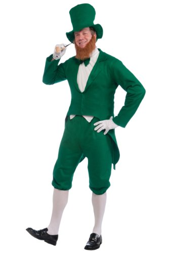 Forum Novelties Men's Adult Leprechaun Costume, Green/White, One Size -