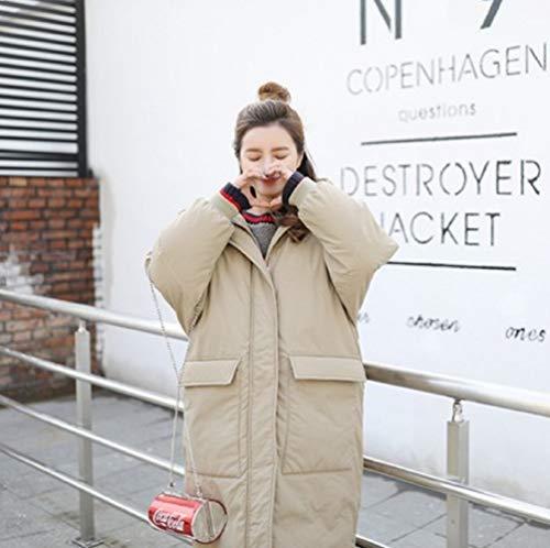 D'hiver Longue Étudiant Et Veste Moyenne Le Pain En Xwh Lâche sur Coton Pour Genou Duvet Kaki Femmes De R5qdx4vw
