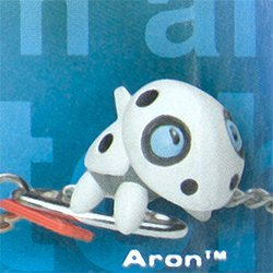 Pokemon Keychain (Series 12): Aron - Gotta Catch ' em all