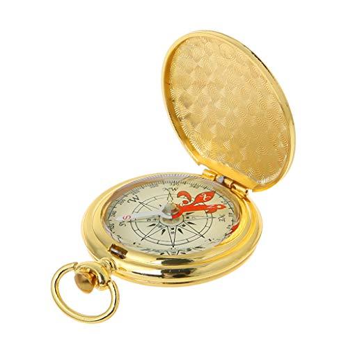 YiFeiCX Pocket Watch Flip Compass Portable Hiking Navigation Compass Luminous in The Dark Navigation Car Compass Keychain