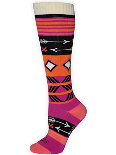 Hot Chillys Womens Socks - Hot Chillys Women's Primitive Pop Fiesta Socks, Candyland, Medium