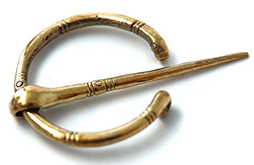Bronze Irish Viking Penannular Brooch, Clothes Fasteners-Cloak Shawl Scarf Leg Wrap Pin, Norse Jewelry